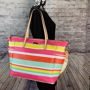 Kate Spade Grant Street Grainy Adaira Stripes Bag